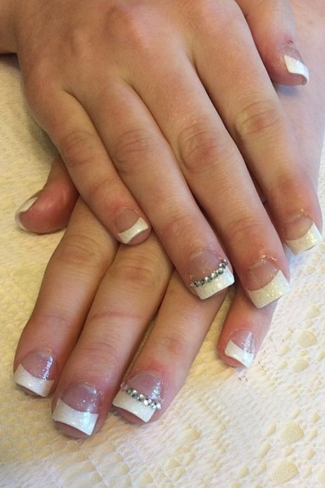 French tip acrylic nails | HAIR & BEAUTY | Pinterest | Make up