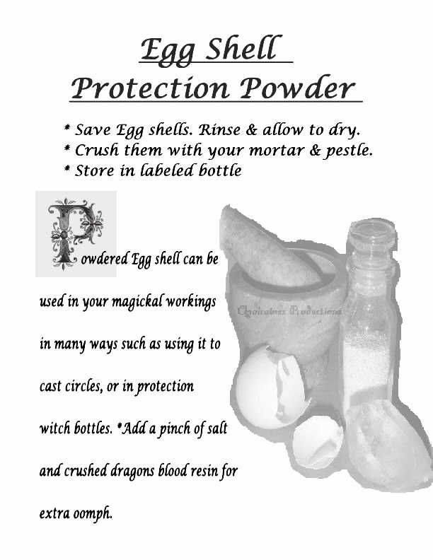 Egg shell protection powder | ☽ ✯ Spellwork ✯ ☾ | Magick