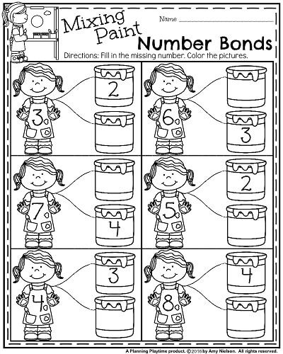 back to school kindergarten worksheets - Painting Worksheets For Kindergarten