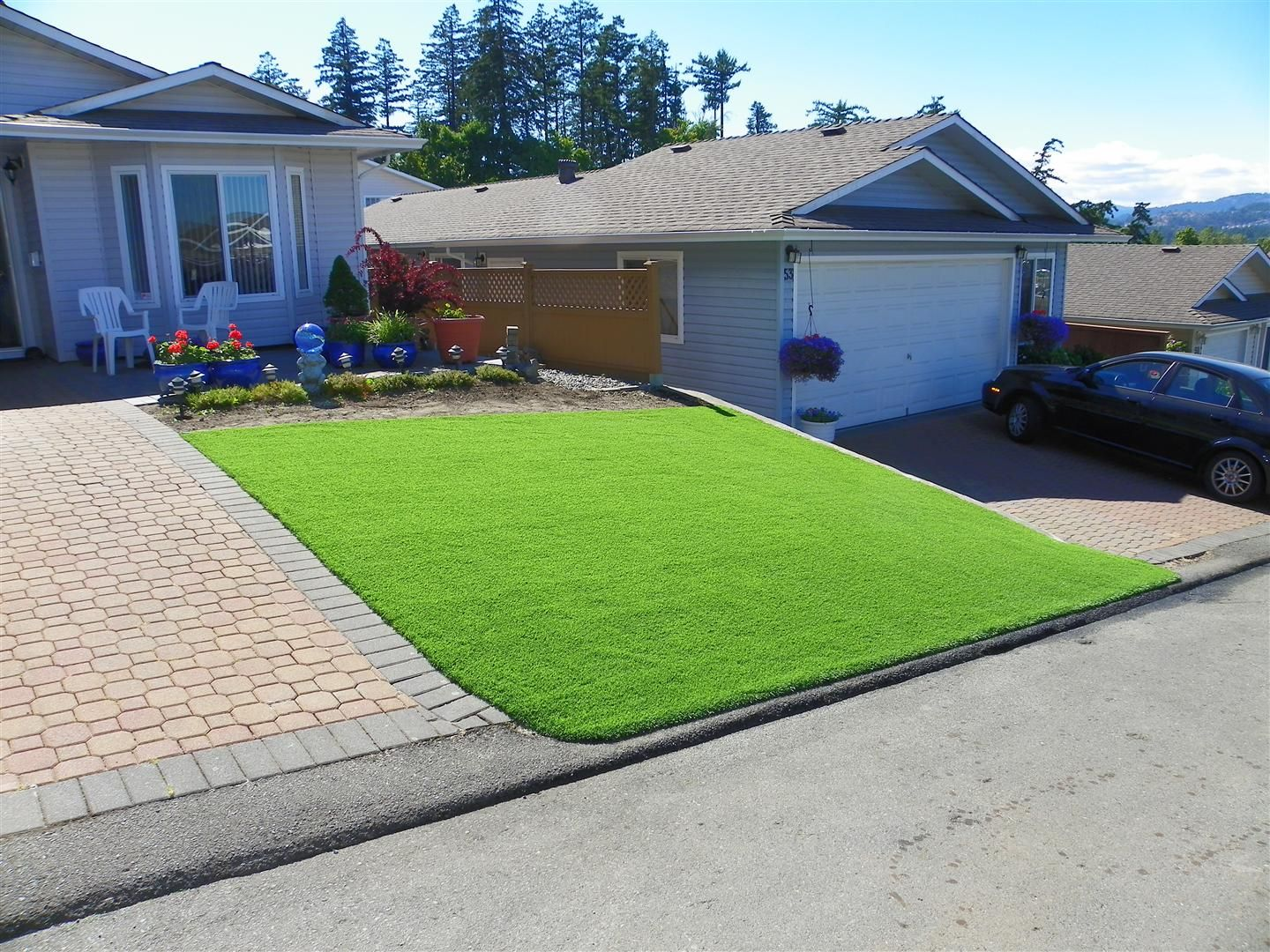 artificial turf yard. Rtificial Grass, Landscape Artificial Lawn, Sports Turf, Leisure Turf Yard