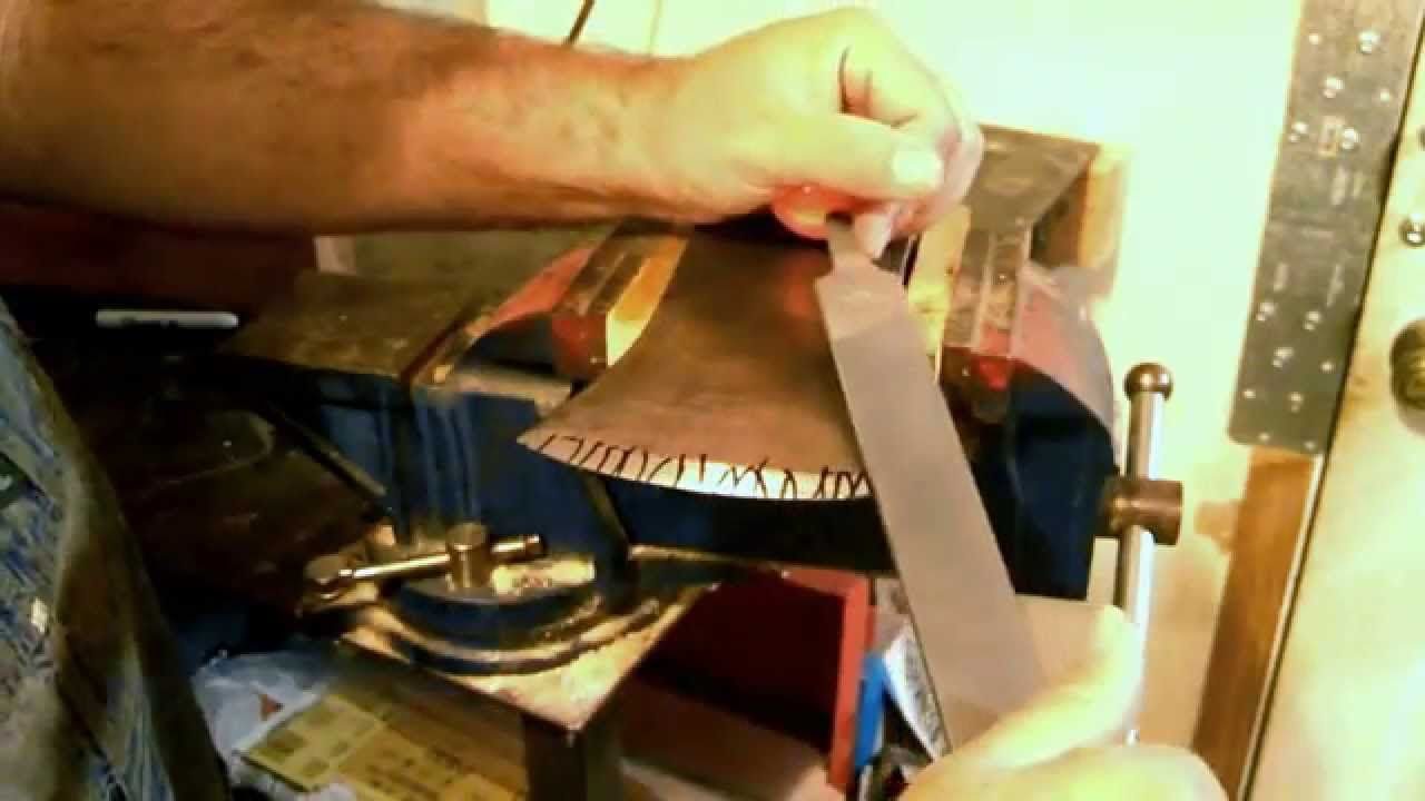 How to sharpen an axe. Draw File Method. Easy