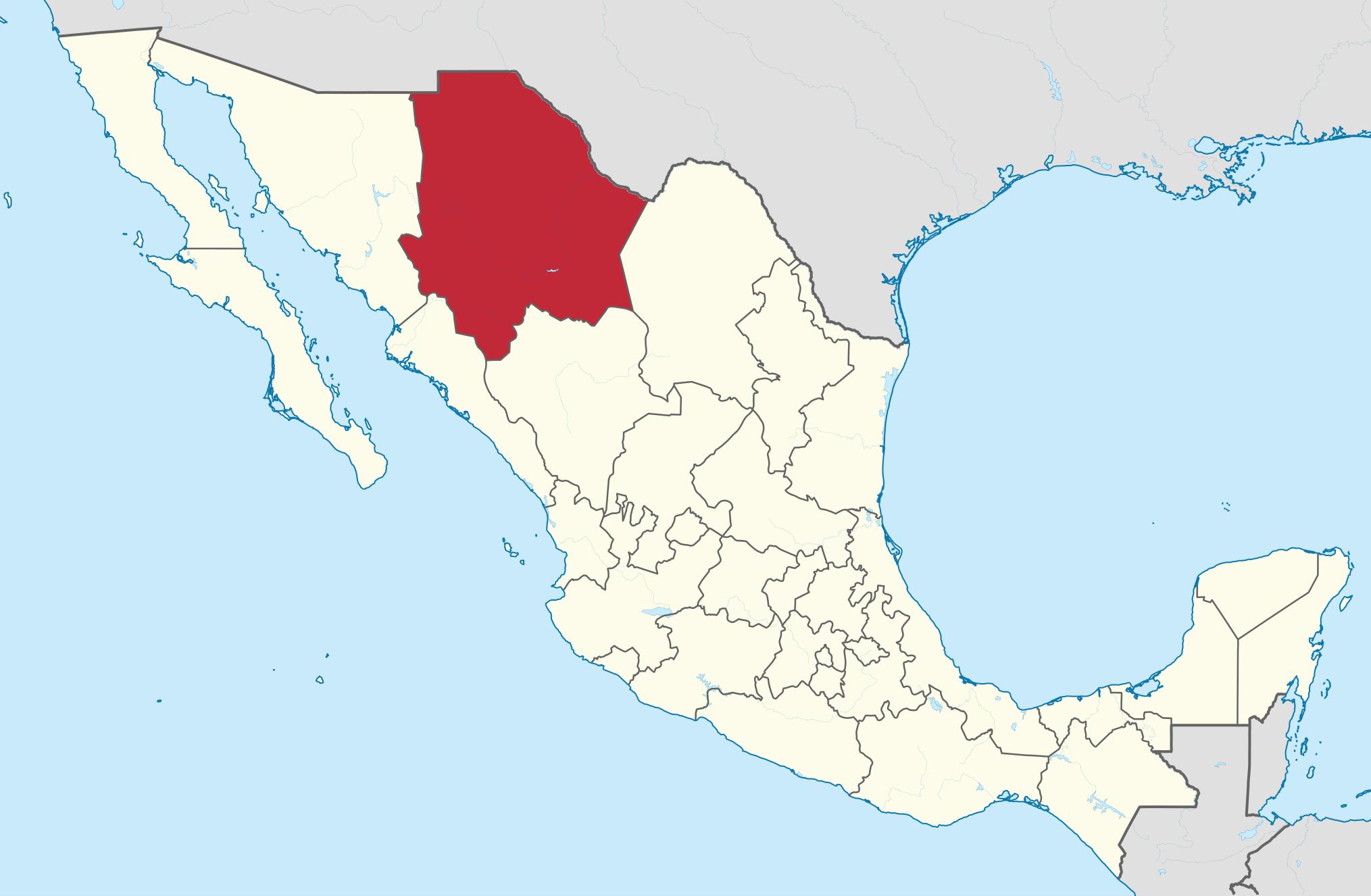 Chihuahua cuenta con 67 municipios  Mexicosus mapas y croquis