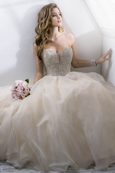 Full Crystal Top Wedding Dresses Sweetheart Bridal Dress Backless Ball Gown Custom Made US Size 2