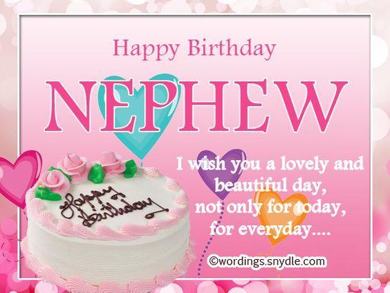 Happy Birthday Wishes For Nephew Happy Birthday Wishes Pinterest