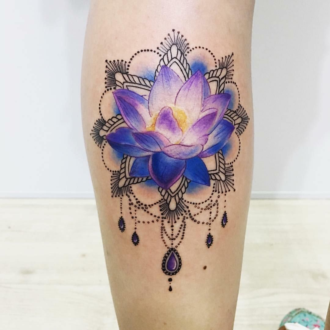 Bluepurple Lotus Tattoo Body Mods 3 Purple Lotus Tattoo Lotus