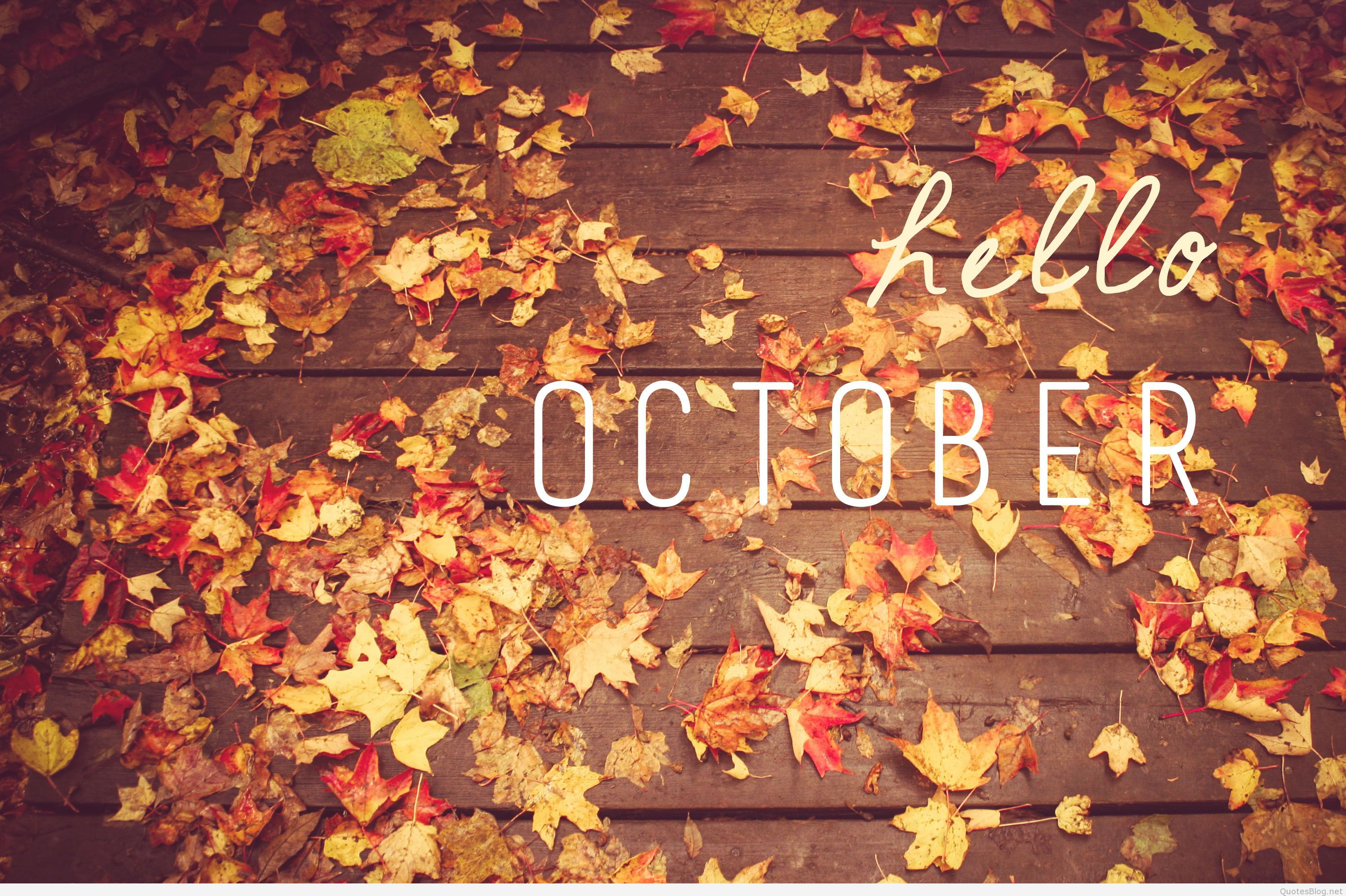Hello October Quotes and Sayings on Tumblr Hello october
