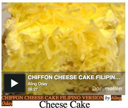 Aling Oday Chiffon Cake