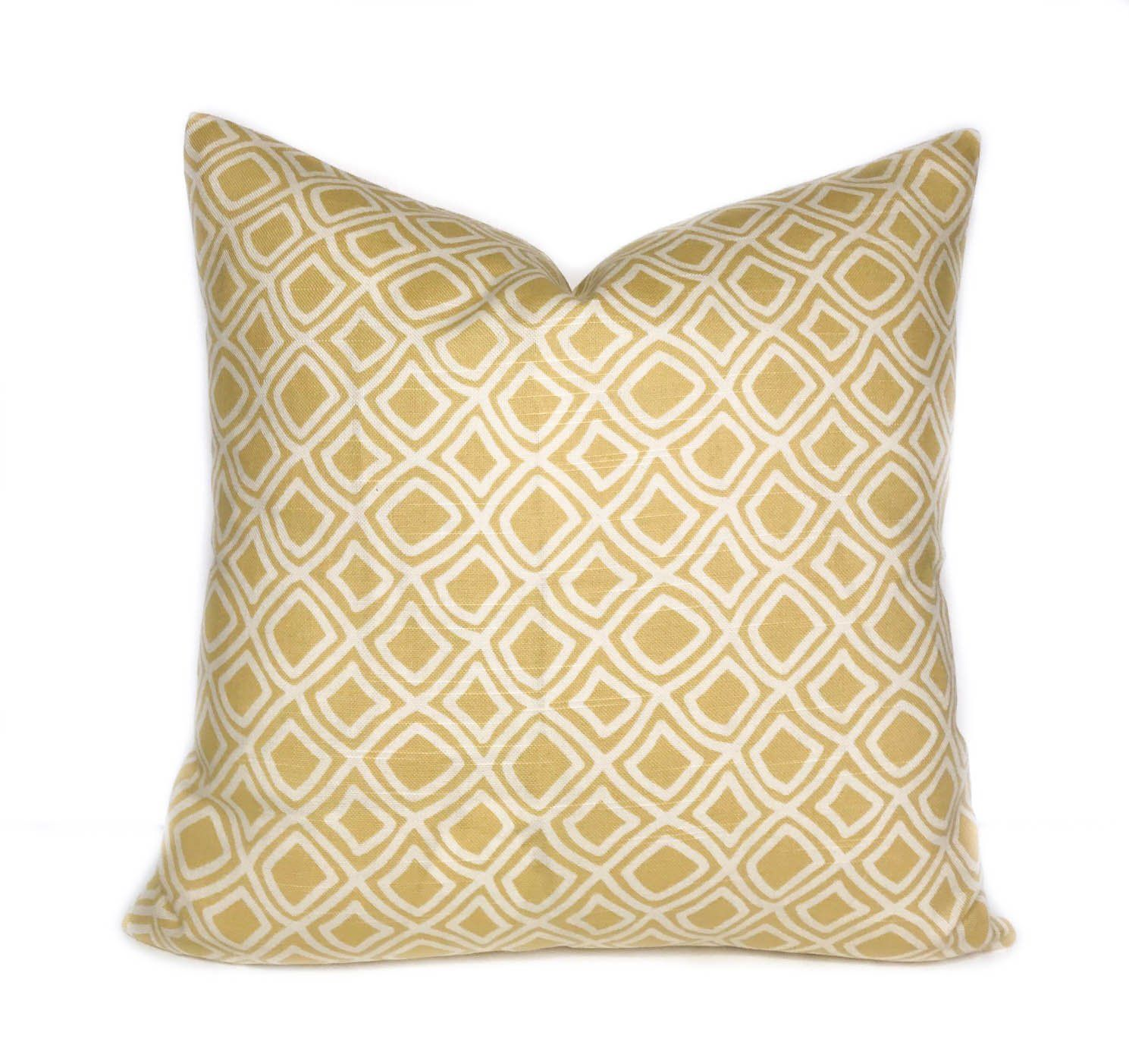 Yellow Pillow Cover Yellow Throw Pillow Couch Pillow Decorative