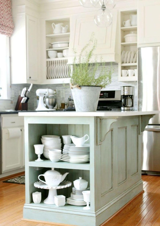 Robins Egg Blue Kitchen Ideas 014 In 2020 Kitchen Island Cabinets Kitchen Island Makeover Chic Kitchen