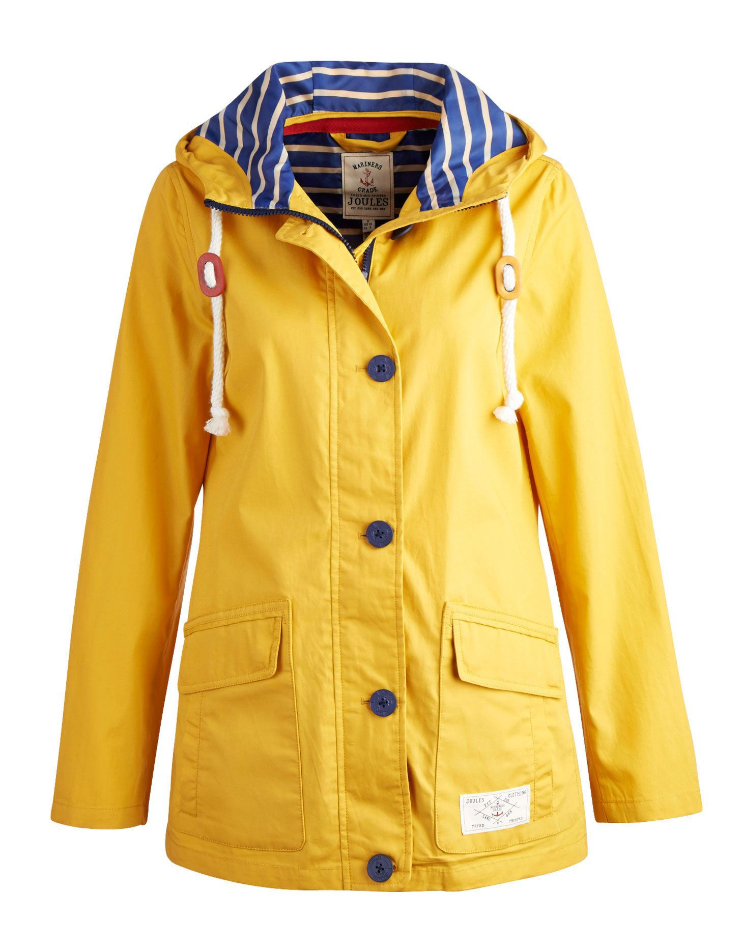 Women's Modern Rain Swing Parka from Lands' End. Classic yellow ...