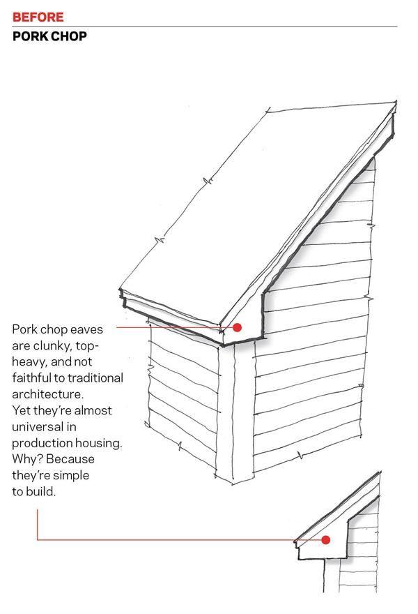 Alternatives To The Pork Chop Eave Return Little Houses Home Construction Construction Builders