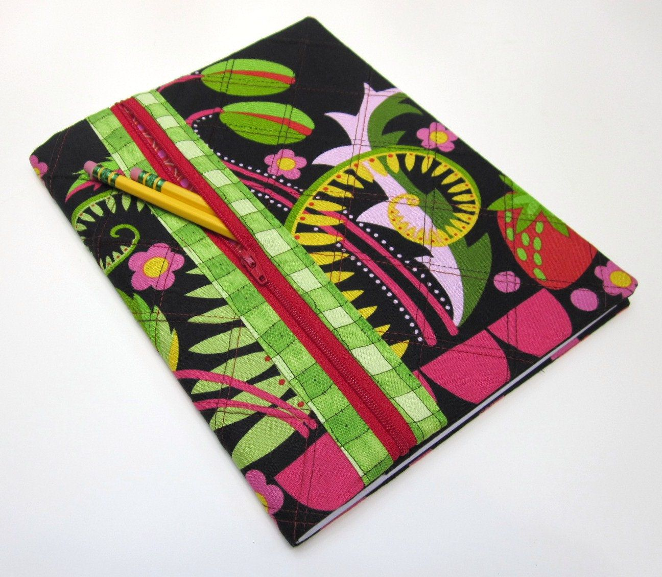 Fabric Book Cover With Pocket : Composition notebook journal zipper pocket discover