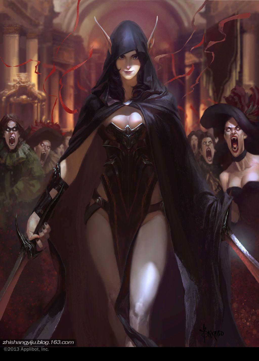 Elf By Bayardwu On Deviantart Fantasy Illustration Fantasy Women Fantasy Art
