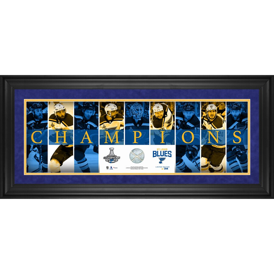 St Louis Blues Fanatics Authentic Framed 10 X 30 2019 Stanley Cup Champions Panoramic With A Stanley Cup Champions St Louis Blues Hockey Nhl Winter Classic