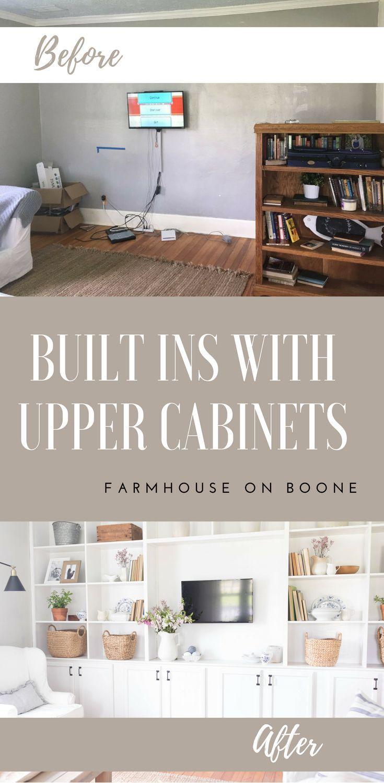 Farmhouse Living Room Built Ins images