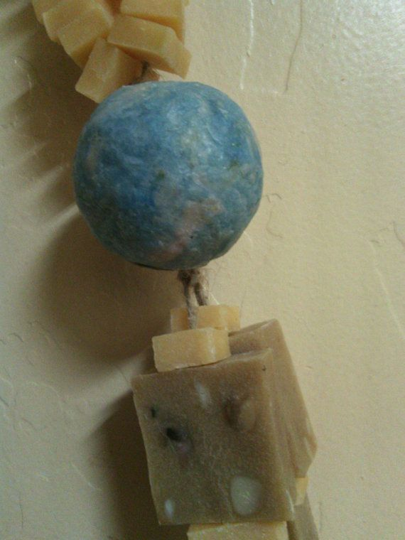 Soap Balls on a rope unique one of a kind by NaturesHomeSpa