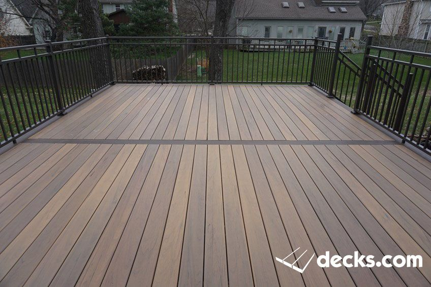 Timbertech Legagy Deck In Tigerwood Railing Is Westbury All Aluminum With 2x2 Posts Staining Deck Building A Deck Porch Remodel