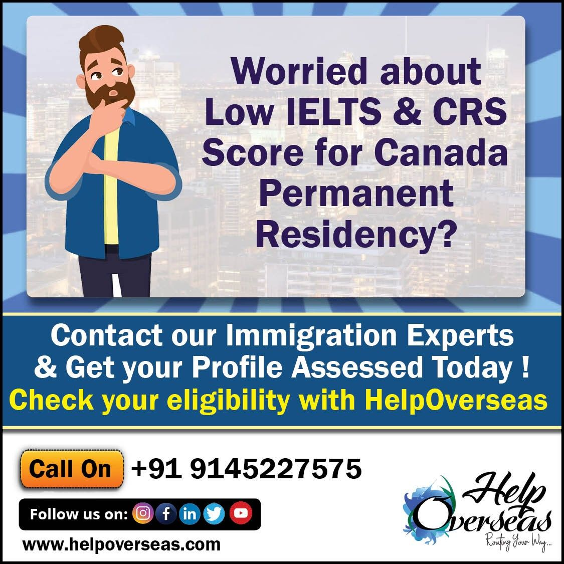 Worried About Low Ielts Crs Score For Canada Permanent Residency Ielts No Worries Canada