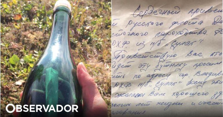 Descoberta mensagem em garrafa com 50 anos no Alasca. Autor chorou quando soube