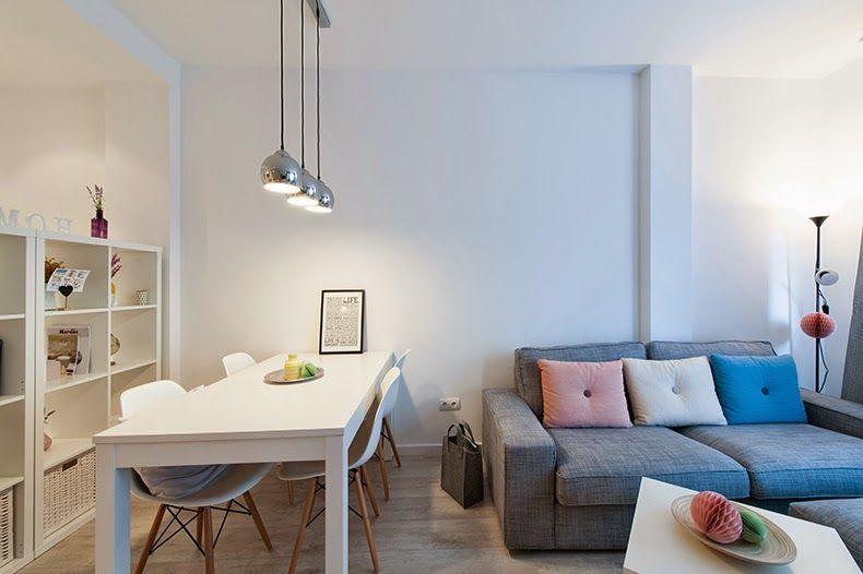 Visitamos una casa real en Barcelona Living rooms, Salons and Room