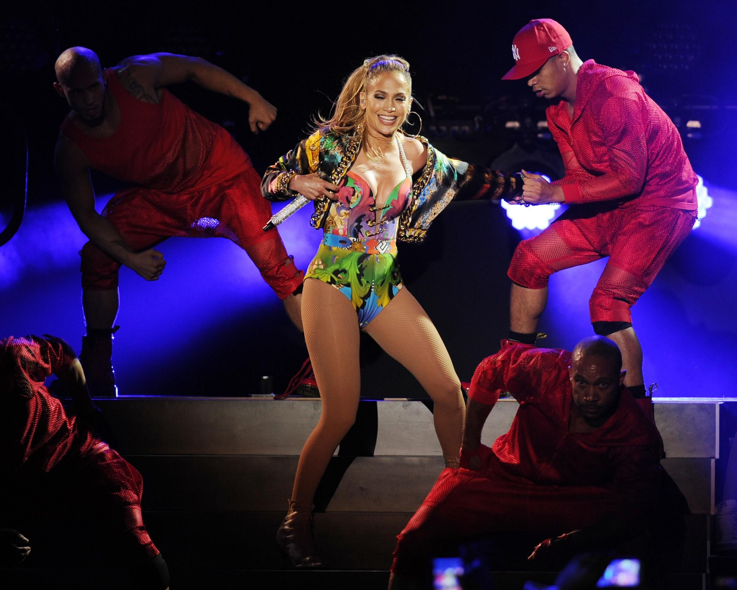 Lo show di Jennifer Lopez (LaPresse)