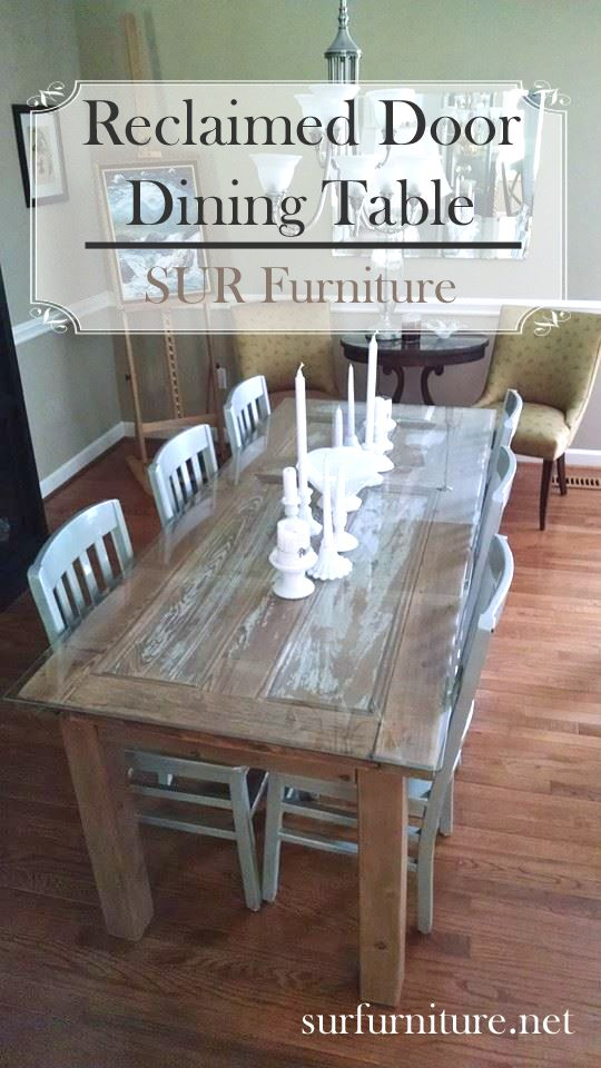 A Fun Way To Use Vintage Finds: An Antique Door Repurposed Into A Gorgeous  Dining