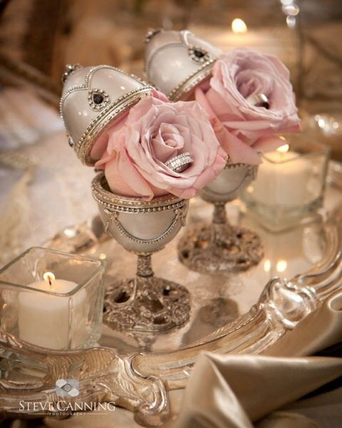 Faberge Egg Ring Holders Sofreh Aghd Eventsbypg Ceremony Ideas