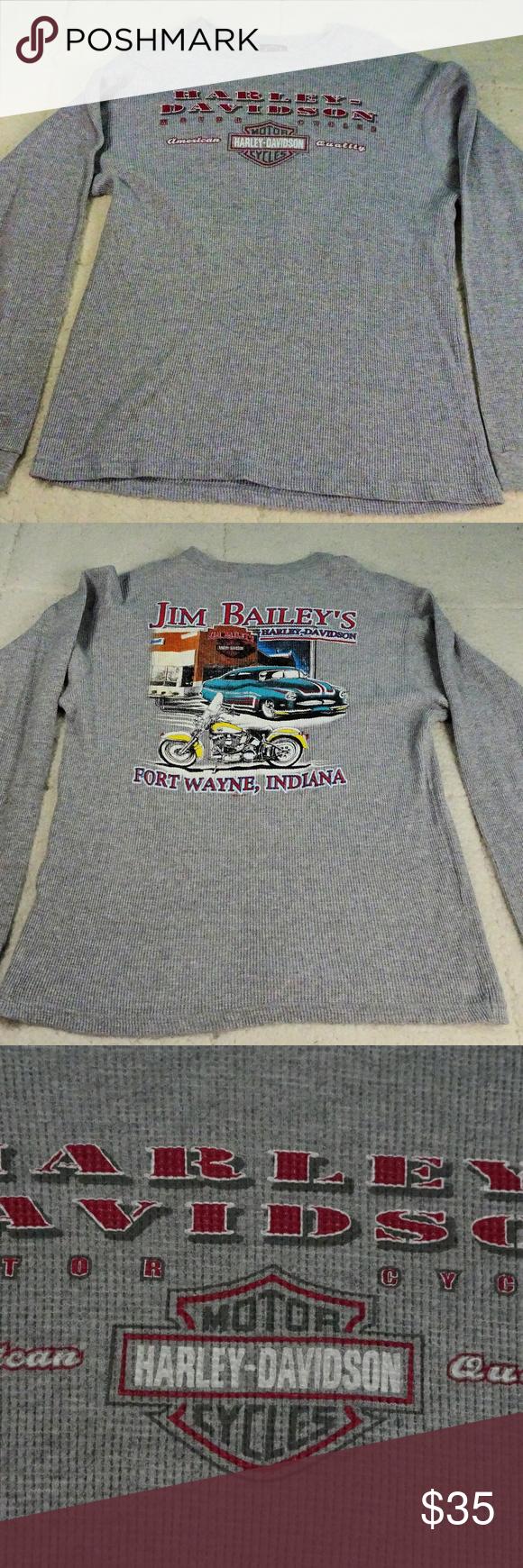 Harley Davidson Ft Wayne, Indiana Gray Thermal Med Harley