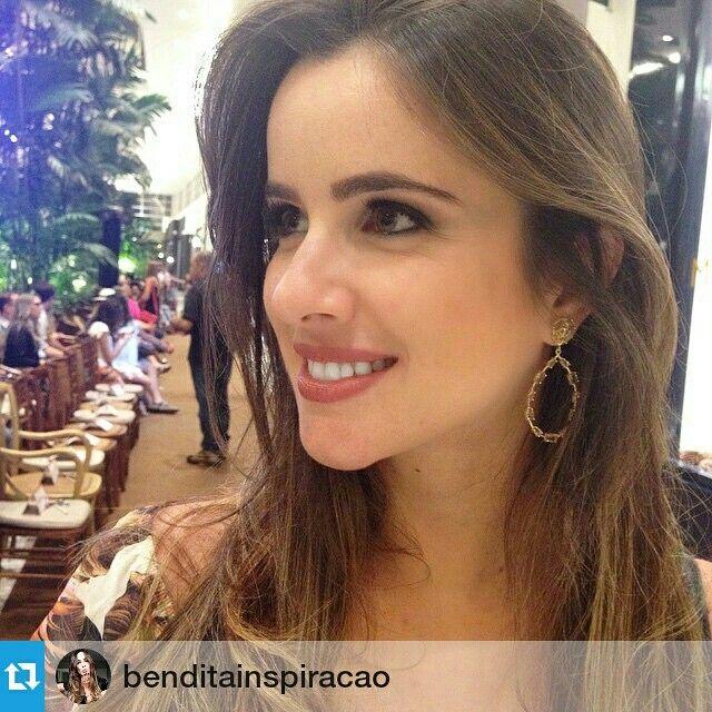 #Repost @benditainspiracao  Marina Rezende arrasando com brincos #mairabumachar em recente evento de moda no Shopping Iguatemi de Ribeirão Preto #mairaparaobrasil #escolhasmb #ribeiraopreto #sp