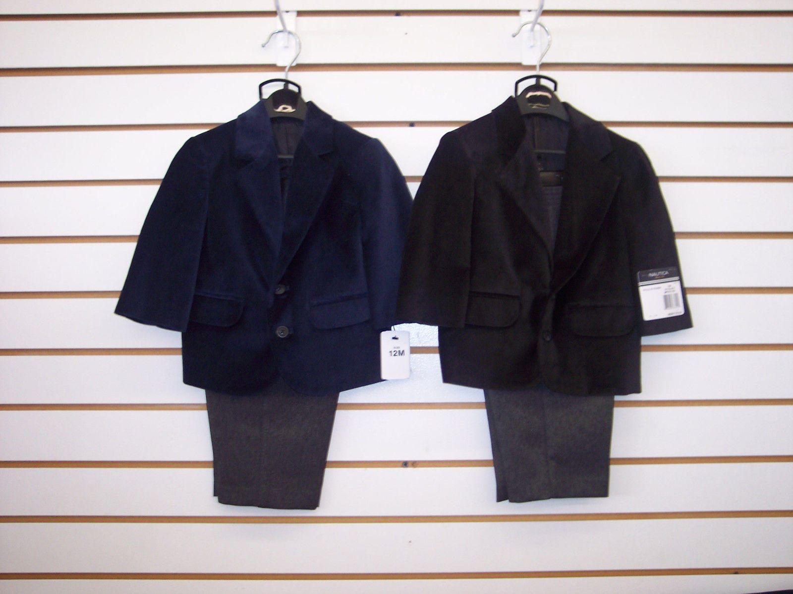 Infant//Toddler//Boys Nautica $79.50-$89.50 Black//Light Blue 4pc Suit Size 12m 7