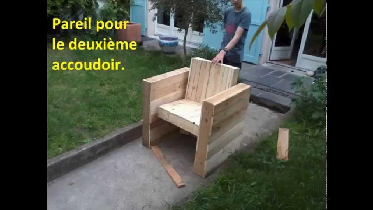 Facile Fabriquer Votre Fauteuil De Jardin Int Rieur En Bois De  # Plan Meuble Palette