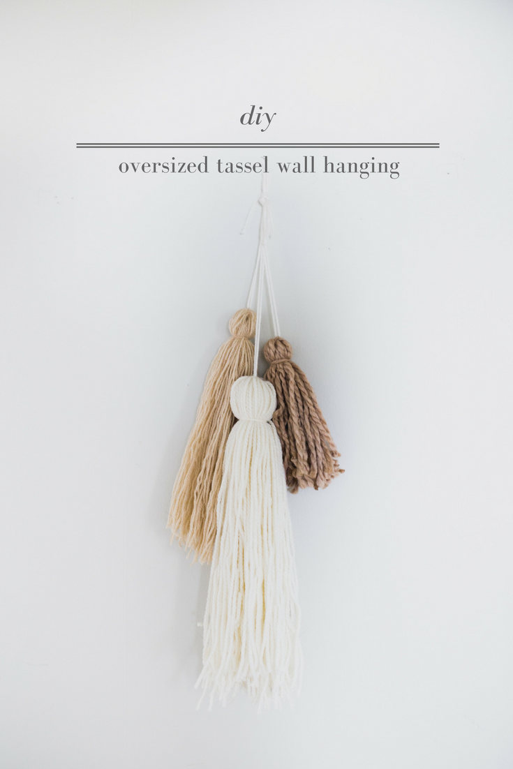 Oversized tassel wall hanging home decor pinterest yarn wall