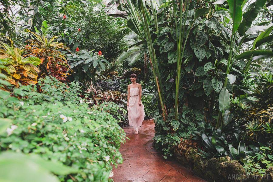 Lincoln Park Conservatory Wedding Angela Renee Chicago Landscape Winter Bride