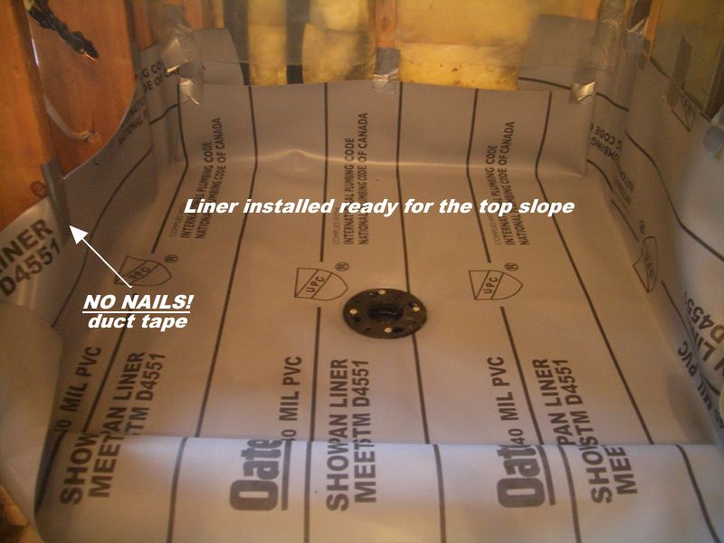 How To Create A Shower Floor Part 2 Shower Floor Diy Bathroom Remodel Pvc Roofing