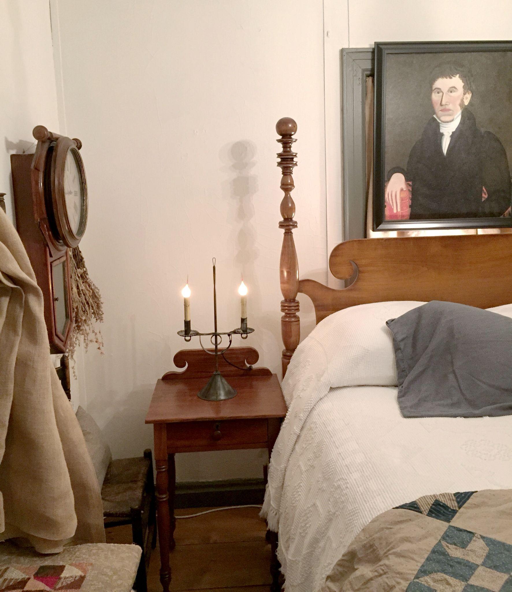 Primitive Bedroom Furniture Colonial Decor Primitive Farmhouse Decor Antiques Beds Furniture