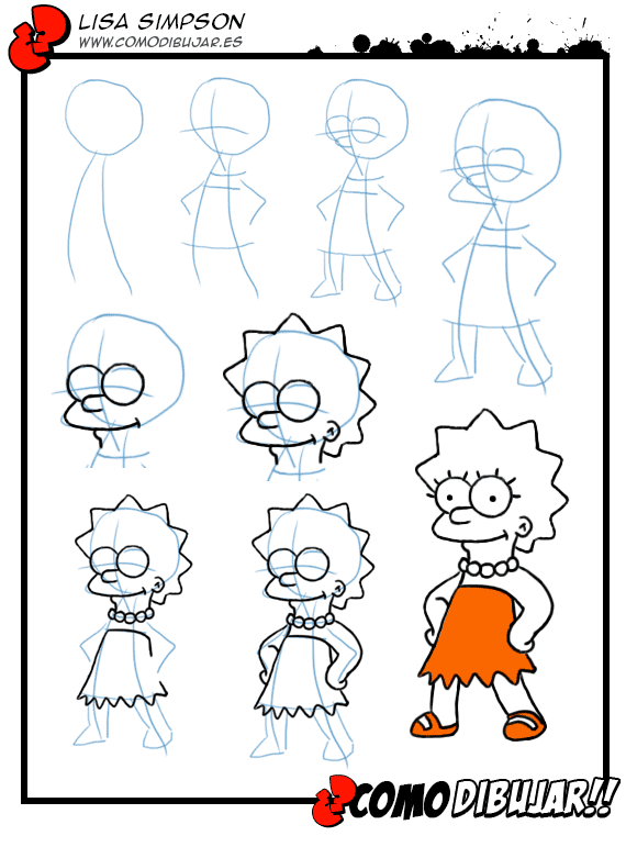 Como Dibujar A Lisa Simpson Learning Draw Cómo Dibujar