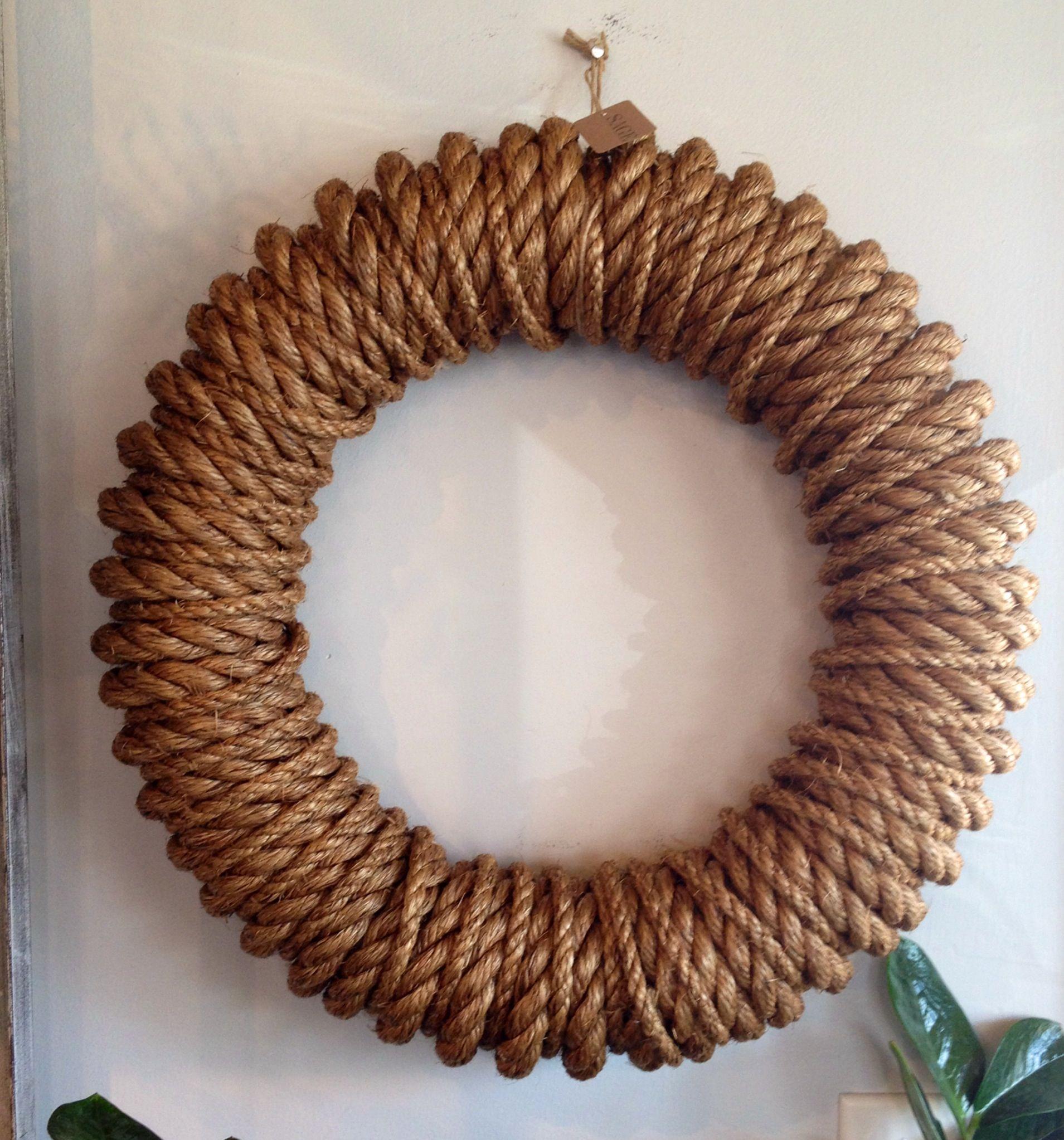 Handmade Rope Wreaths Nautical Wreath Diy Wreath Wire Wreath Forms