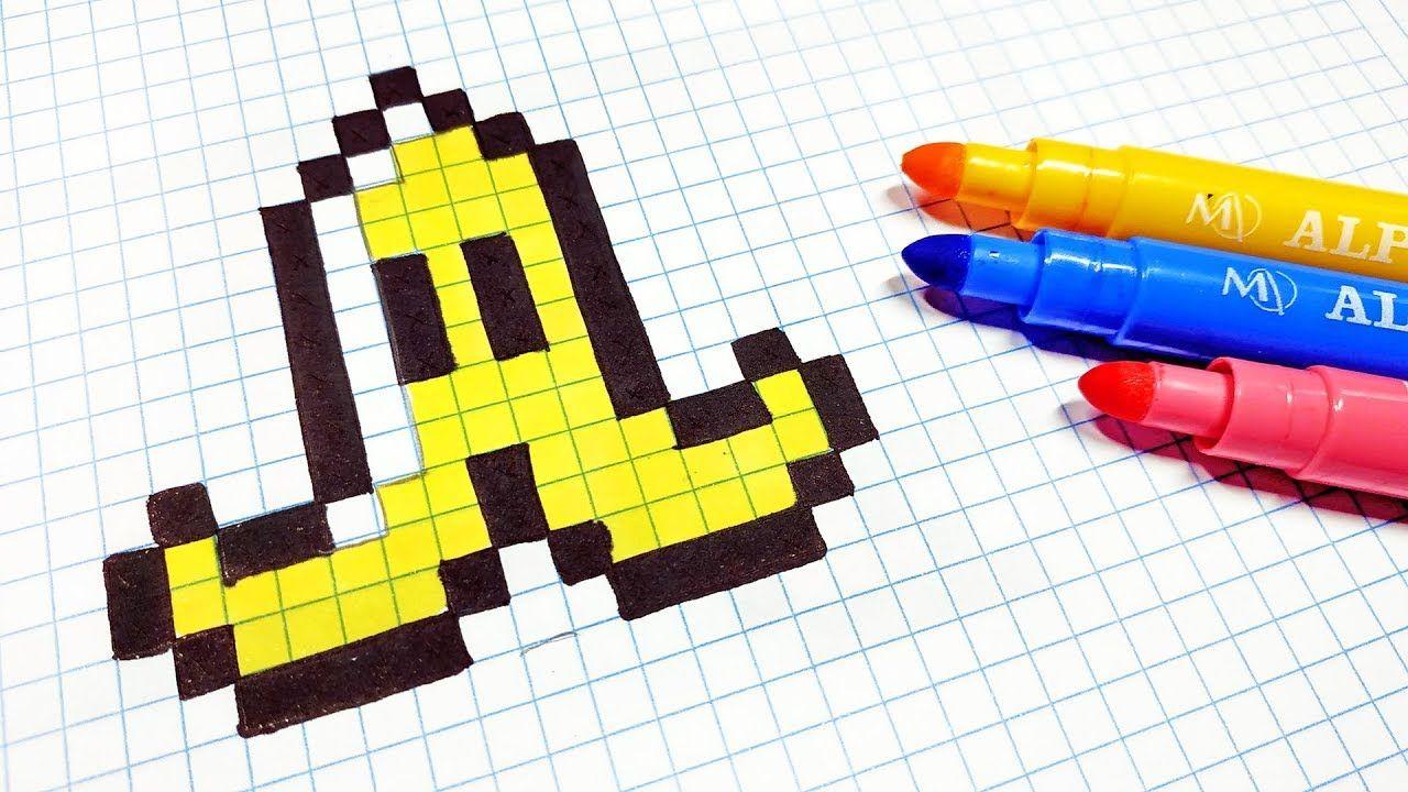 Pixel Art Hecho A Mano Cómo Dibujar Una Cáscara De Plátano