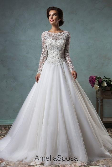 Wedding Dress Leticia Ameliasposa Amelia Sposa Wedding Dress Wedding Dress Long Sleeve A Line Wedding Dress