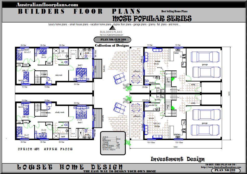 Duplex Townhouse Plans Home Plans Home Design