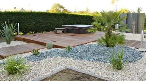 Ehanno 5131 garden pinterest spa jardin moderne et - Decoration minerale jardin ...