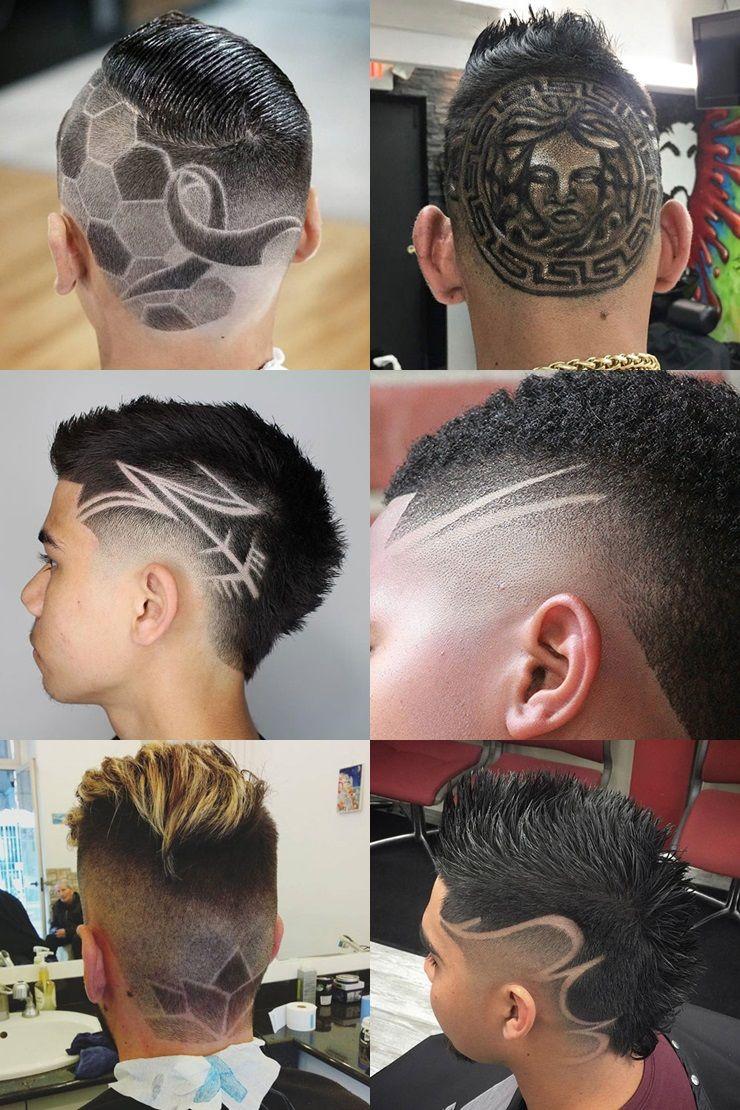 Cool Haircut Designs For Men 2018 Barba Cabelo E Bigode Listras Para Cabelo Desenho No Cabelo Masculino