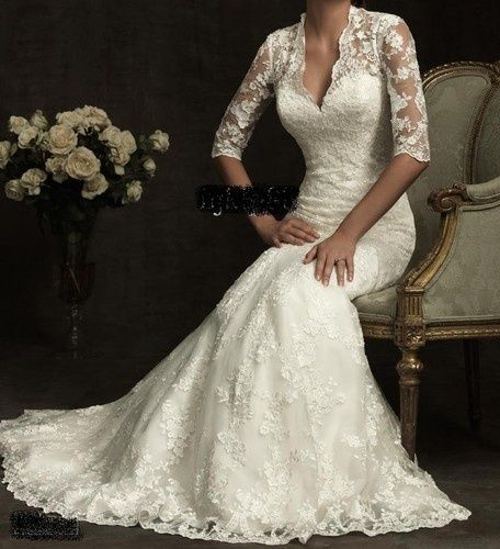 Elegant Wedding Gowns For Second Marriage: Ivory Colored Wedding Dress For Older Second Time Bride