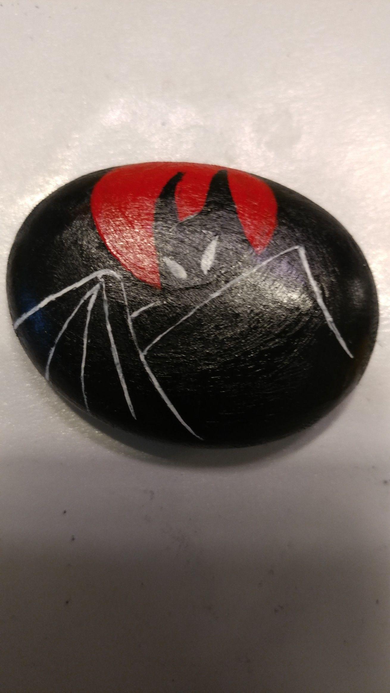 Dark knight Stone art, Stone painting, Painted rocks