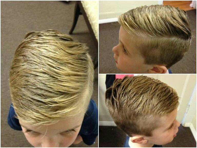 Boys Hipster fade haircut hard part Ciao Bella Spa