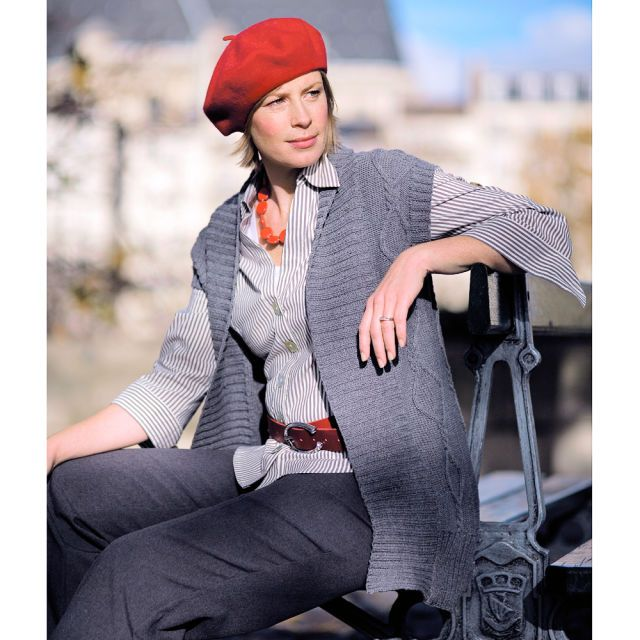Plus Size Style Pick This Cable Waistcoat Knitting Pattern