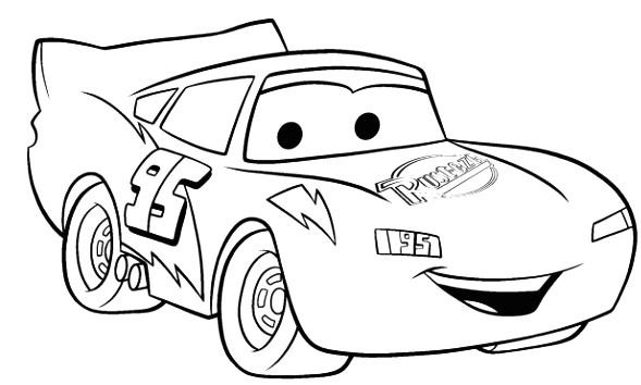Disney Cartoon Cars Coloring Pages Lightning McQueen