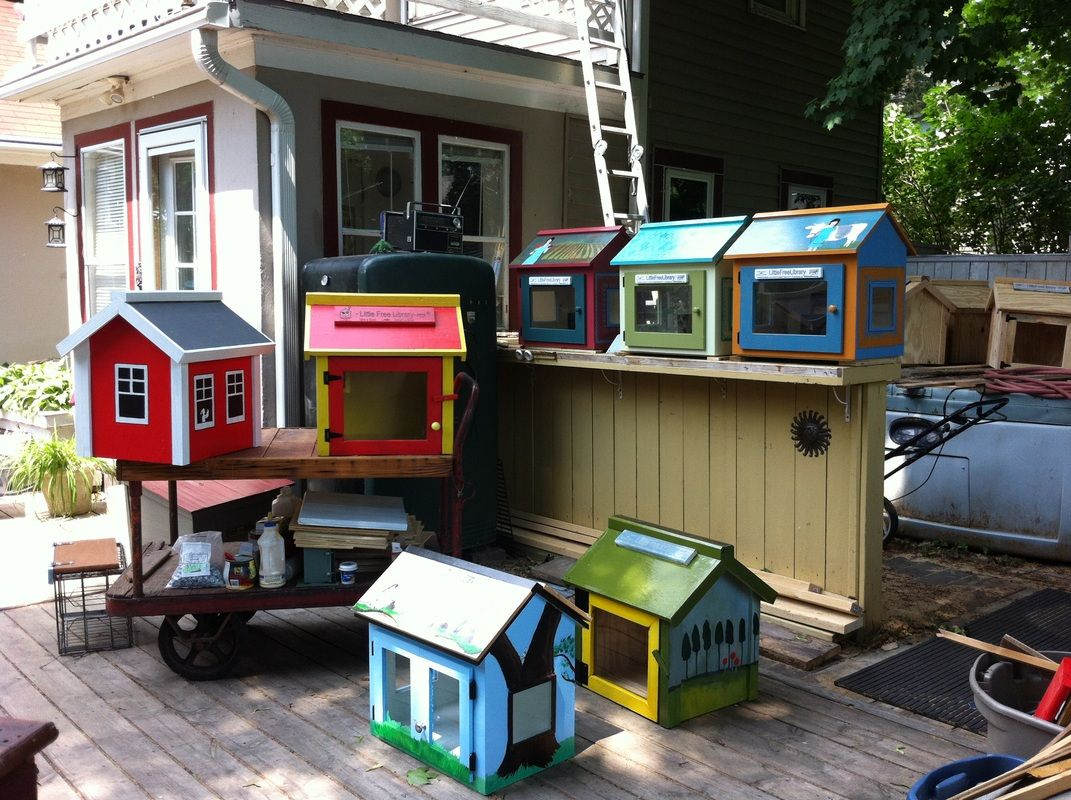 Little Free Library book sharing little houses!!! SPRING