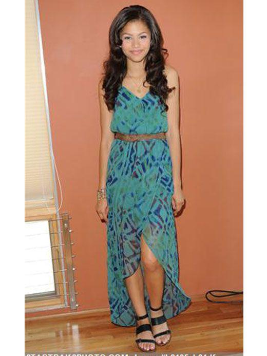 Cardboard Cutout Standee. Blue Dress mini size Bridgit Mendler