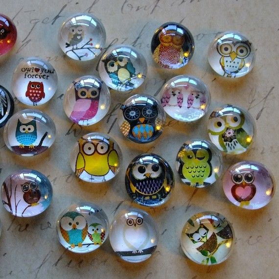 Owl Magnets $4. I totally want these!
